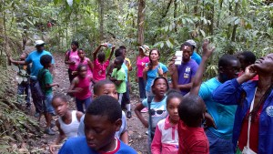 Young Stewards of the Environment learning about the ecosystem of the oldest protected rainforest in the world